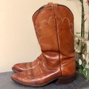 🔸Sale🔸J. Chisholm Brown Leather Cowboy Boots